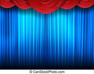firanki, nowoczesny, teatr