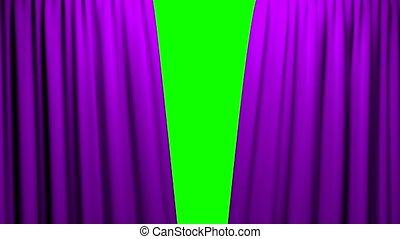 firanki, teatr, kino, ekran, otwarcie, zielony, zamykanie, ...