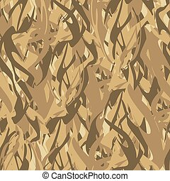 fire., ベクトル, 軍, 手ざわり, カモフラージュ, パターン, 抽象的, 軍隊, pattern., flames., seamless, 兵士, ハンター, 保護である