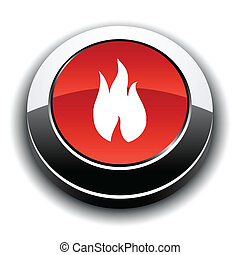 Fire 3d round button.