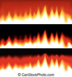 Fire abstract banners.