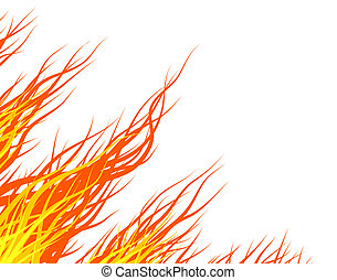 Fire - Abstract illustration of hair-like flames