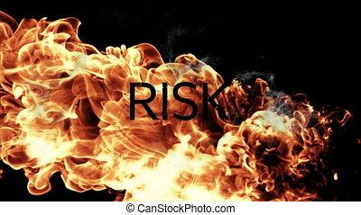 Fire against black background - Orange fire against black ...