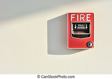Fire alarm activation switch - Fire alarm switch on wall