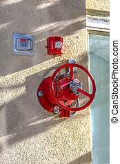Fire alarm and equipment outside building