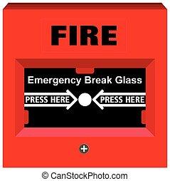 Fire Alarm Emergency Break Glass Object