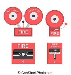 Fire alarm flat icon