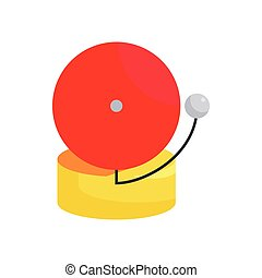 Fire alarm icon, cartoon style