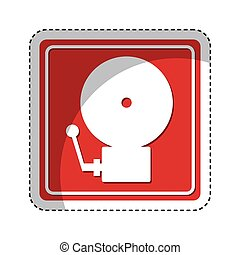 fire alarm isolated icon