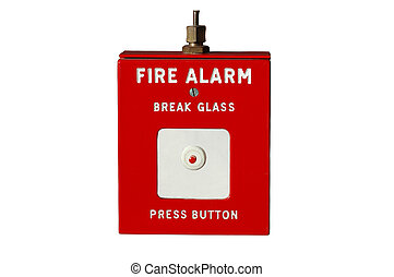 Old fashioned isolated fire alarm.