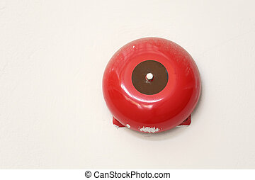 Fire alarm with a wall background