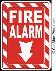 Fire Alarm Sign Vector illustration eps 10