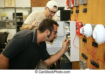 Fire Alarm Wiring - Electricians learning how to wire fire...