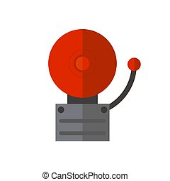 Fire alarmon wall for warning security wall bell button evacuation protection push vector illustration.
