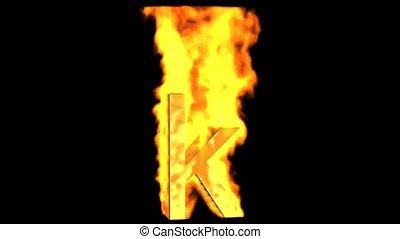 fire alphabet k.