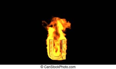 fire alphabet u.