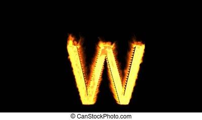 fire alphabet W.
