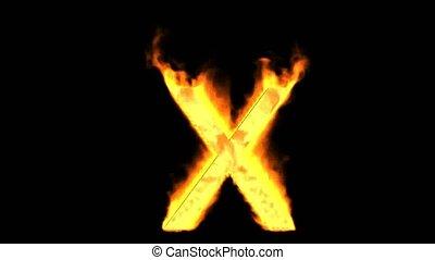fire alphabet X.