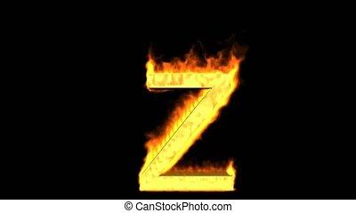 fire alphabet Z.