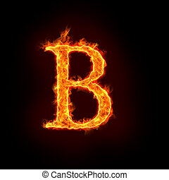 fire alphabets, B