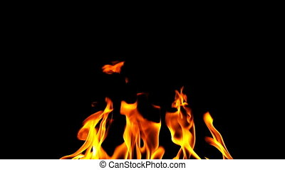 fire and abstract background