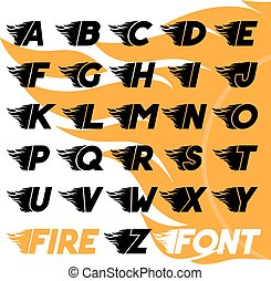 Fire and high speed font