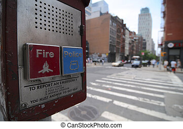 Fire and Police emergency call box