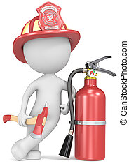Fire and rescue. - Dude the Firefighter holding an axe and...