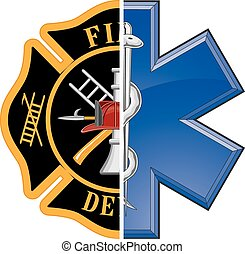 Fire and Rescue is an illustration of a combination ...