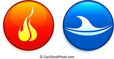 Fire and Water Buttons