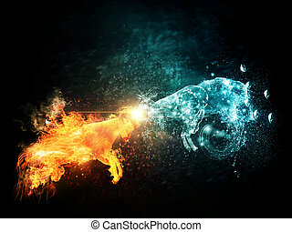 Fire and Water Goats Collide