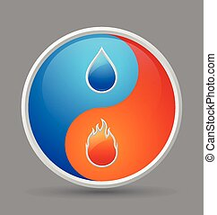Fire and water icon