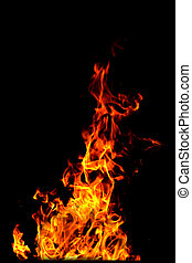 Fire background - A nice fire in a fire place