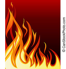 fire background - Inferno fire vector background for design ...