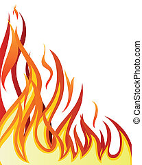 fire background - Inferno fire vector background for design...