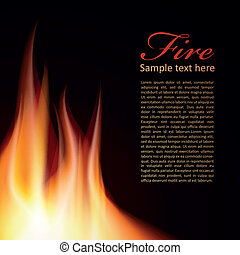Fire background Text Design