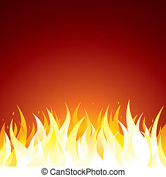 Fire Background. Vector Template for Text or Design