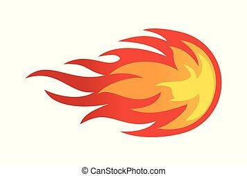 fire ball abstract logo