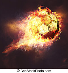 Fire ball. Abstract sport soccer and football backgrounds