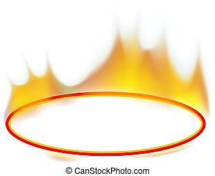 Fire Banner - Ellipse - Fire Banner 02 - burning ellipse