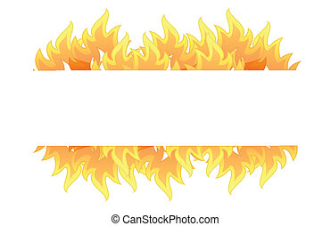 fire banner illustration design over white background