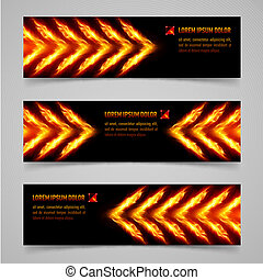 Fire banners