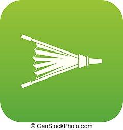 Fire bellows icon digital green