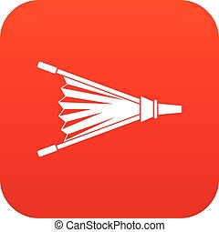 Fire bellows icon digital red