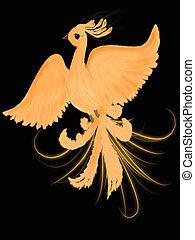 Fire-bird - Illustration of fire-bird