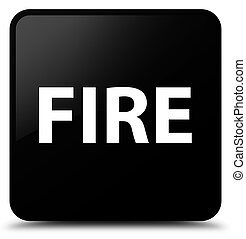 Fire black square button