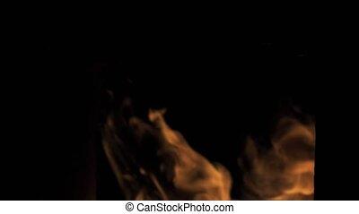 Fire Blast of Close Flame - 4k Fire Blast of Close Flame...
