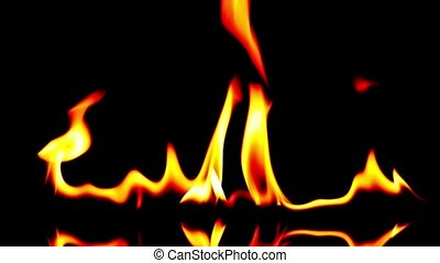 Fire blowing out from colorful to black and white