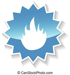 Fire blue icon