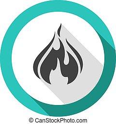 fire bonfire flame bagel shape